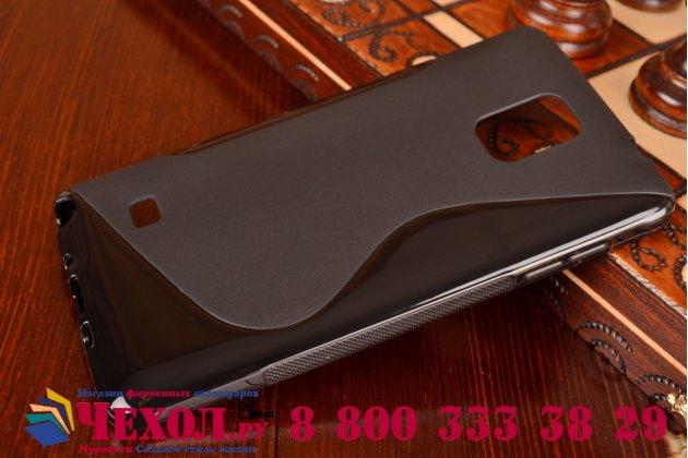 Фирменная ультра-тонкая полимерная из мягкого качественного силикона задняя панель-чехол-накладка для Samsung Galaxy Note 4 черная