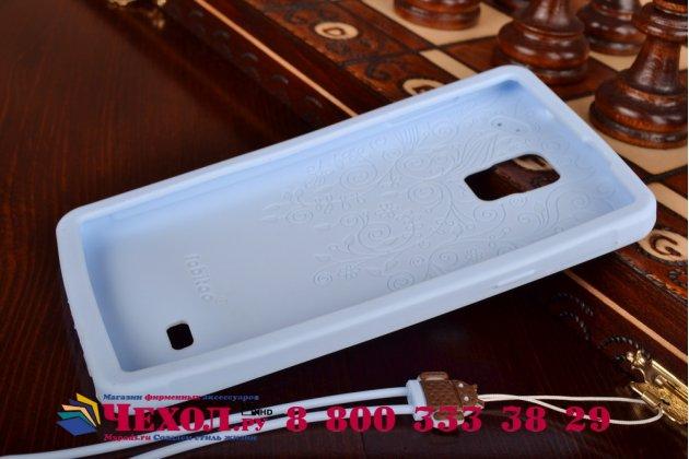 """Фирменная необычная уникальная полимерная мягкая задняя панель-чехол-накладка для Samsung Galaxy Note 4 """"тематика Андроид в черничном шоколаде"""""""