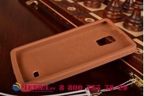 """Фирменная необычная уникальная полимерная мягкая задняя панель-чехол-накладка для Samsung Galaxy Note 4 """"тематика Андроид в тёмном Шоколаде"""""""