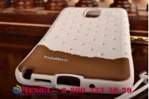 """Фирменная необычная уникальная полимерная мягкая задняя панель-чехол-накладка для Samsung Galaxy Note 4 """"тематика Андроид в Белом Шоколаде"""""""