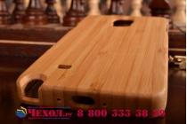 Фирменная оригинальная деревянная из натурального бамбука задняя панель-крышка-накладка для Samsung Galaxy Note 4