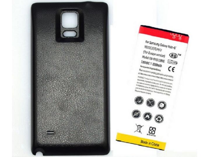 Усиленная батарея-аккумулятор большой повышенной ёмкости 8400mah для телефона Samsung Galaxy Note 4 SM-N910C/F..