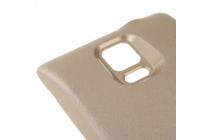 Усиленная батарея-аккумулятор большой ёмкости 7600mah для телефона Samsung Galaxy Note 4 SM-G850F/SM-N910C + задняя крышка золотая + гарантия