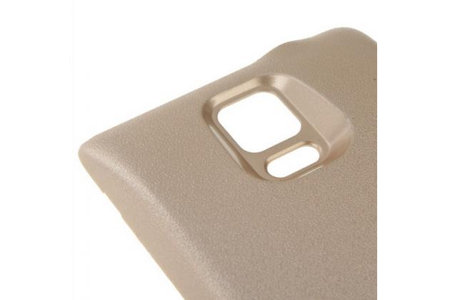 Усиленная батарея-аккумулятор большой повышенной ёмкости 7600mah для телефона Samsung Galaxy Note 4 SM-N910C/F + задняя крышка золотая + гарантия