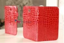 Фирменный чехол для Samsung Galaxy Note 8.0 N5100/N5110 лаковая кожа крокодила алый огненный красный