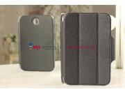 Ультра-тонкий легкий чехол-обложка для Samsung Galaxy Note 8.0 N5100/N5110 SLIM черный кожаный..