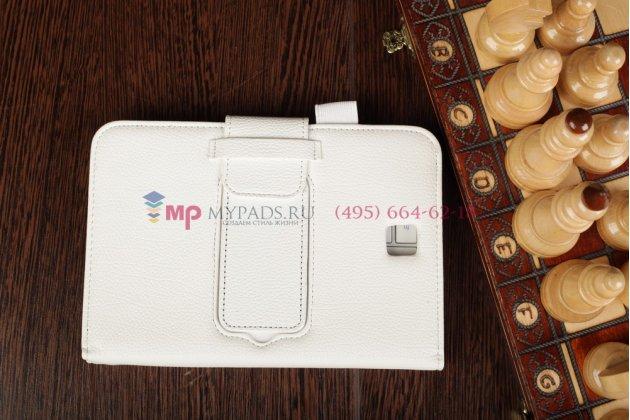 Фирменный чехол со съёмной Bluetooth-клавиатурой для Samsung Galaxy Note 8.0 N5100/N5110/N5120 белый кожаный + гарантия