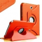 Чехол для Samsung Galaxy Note 8.0 GT-N5100/N5110/N5120 поворотный роторный оборотный оранжевый кожаный..