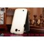 Фирменный вертикальный откидной чехол-флип для Samsung Galaxy Premier GT-i9260 белый кожаный..