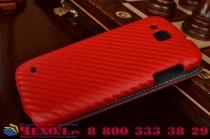 Фирменный вертикальный откидной чехол-флип для Samsung Galaxy Premier GT-i9260 красный кожаный