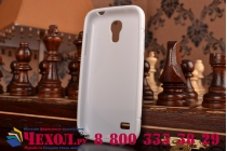 Фирменная ультра-тонкая полимерная из мягкого качественного силикона задняя панель-чехол-накладка для Samsung Galaxy S4 Mini GT-I9190/Duos GT-I9192 белая