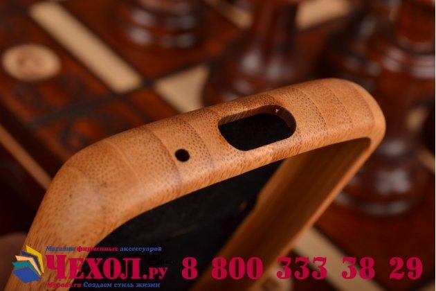 Фирменная оригинальная деревянная из натурального бамбука задняя панель-крышка-накладка для Galaxy S4 Mini GT-I9190/Duos GT-I9192