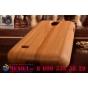 Фирменная оригинальная деревянная из натурального бамбука задняя панель-крышка-накладка для Galaxy S4 Mini GT-..