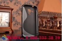 Фирменная ультра-тонкая полимерная из мягкого качественного силикона задняя панель-чехол-накладка для Samsung Galaxy S4 Mini GT-I9190/Duos GT-I9192 черная