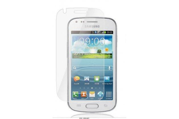 Фирменная оригинальная защитная пленка для телефона Samsung Galaxy S Duos GT-S7562 глянцевая