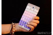 Фирменная роскошная элитная пластиковая задняя панель-накладка украшенная стразами кристалликами и декорированная элементами для Samsung Galaxy S4 Mini GT-I9190/Duos GT-I9192 малиновая