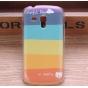Фирменная необычная из легчайшего и тончайшего пластика задняя панель-чехол-накладка для Samsung Galaxy S Duos..