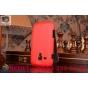 Фирменный вертикальный откидной чехол-флип для Samsung Galaxy S Duos GT-S7562 красный кожаный..