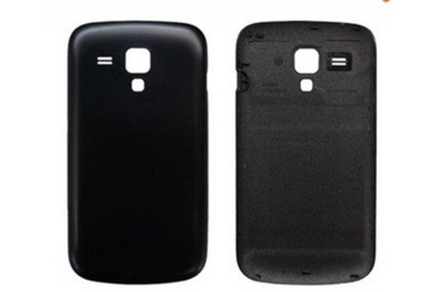 Родная оригинальная задняя крышка-панель которая шла в комплекте для Samsung Galaxy S Duos GT-S7562 черная