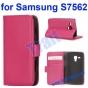 Фирменный чехол-книжка с подставкой для Samsung Galaxy S Duos GT-S7562 розовый..