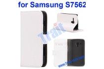 Фирменный чехол-книжка с подставкой для Samsung Galaxy S Duos GT-S7562 белый