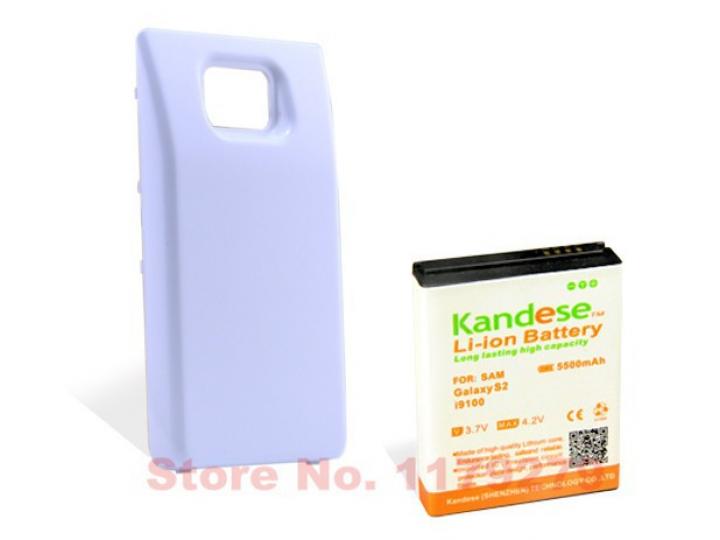 Усиленная батарея-аккумулятор большой повышенной ёмкости 5500mah для телефона Samsung Galaxy S2 / S2 Plus GT-i..
