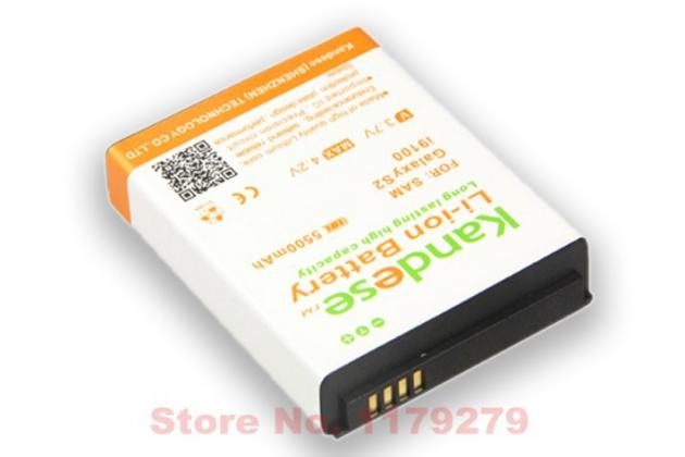 Усиленная батарея-аккумулятор большой повышенной ёмкости 5500mah для телефона Samsung Galaxy S2 / S2 Plus GT-i9100/i9105 + задняя крышка белая+ гарантия