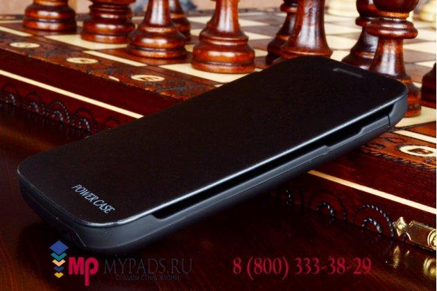 Чехол-книжка со встроенной усиленной мощной батарей-аккумулятором большой повышенной расширенной ёмкости 2000mAh для Samsung Galaxy S3 Mini GT-i8190 черный + гарантия