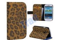 Чехол-защитный кожух для Samsung Galaxy S3 Mini GT-i8190 леопардовый коричневый