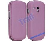 Фирменный вертикальный откидной чехол-флип для Samsung Galaxy S3 Mini GT-i8190 розовый ожаный..