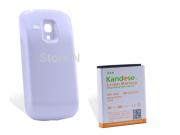 Усиленная батарея-аккумулятор большой ёмкости 5200mah для телефона Samsung Galaxy S3 mini i8190 + задняя крышк..