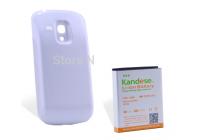 Усиленная батарея-аккумулятор большой ёмкости 5200mah для телефона Samsung Galaxy S3 mini i8190 + задняя крышка белая+ гарантия