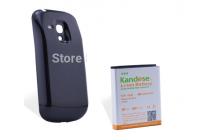 Усиленная батарея-аккумулятор большой ёмкости 5200mah для телефона Samsung Galaxy S3 mini i8190 + задняя крышка черная+ гарантия
