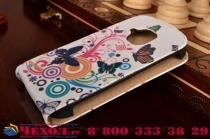 """Фирменный вертикальный откидной чехол-флип для Samsung Galaxy S3 Mini GT-i8190  """"тематика Радужные Бабочки"""""""