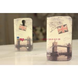 "Чехол-книжка для Samsung Galaxy S4 i9500 ""тематика Тауэрский мост Англия"""