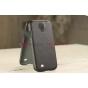 Кожаная задняя панель-крышка для Samsung Galaxy S4 i9500 черная..