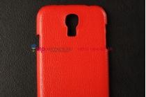 Кожаная задняя панель-крышка для Samsung Galaxy S4 i9500 красная