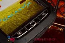 Неубиваемый водостойкий противоударный водонепроницаемый грязестойкий влагозащитный ударопрочный фирменный чехол-бампер для Samsung Galaxy S4 GT-i9500/i9505 цельно-металлический со стеклом Gorilla Glass
