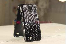 Задняя панель-крышка из тончайшего и прочного пластика для Samsung Galaxy S4 i9500 змея черный