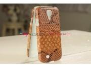 Задняя панель-крышка из тончайшего и прочного пластика для Samsung Galaxy S4 i9500 змея коричневый..