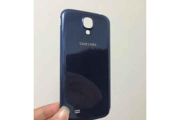 Родная оригинальная задняя крышка-панель которая шла в комплекте для Samsung Galaxy S4 GT-i9500/i9505 синяя