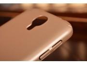 Фирменная ультра-тонкая пластиковая задняя панель-чехол-накладка для Samsung Galaxy S4 GT-i9500/i9505 золотая..