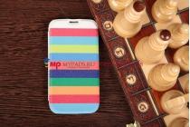 """Чехол-книжка для Samsung Galaxy S4 GT-i9500/i9505 """"все цвета радуги"""""""