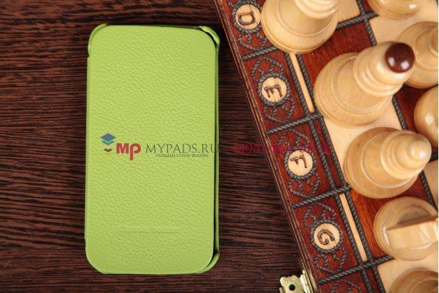 Чехол-книжка для Samsung Galaxy S4 GT-i9500/i9505 зеленый кожаный