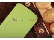 Чехол-книжка для Samsung Galaxy S4 GT-i9500/i9505 зеленый кожаный..