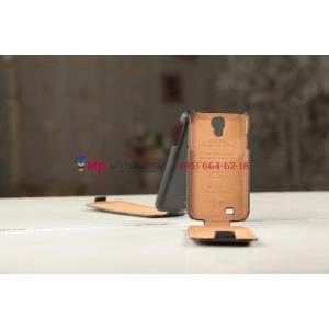 Чехол откидной вертикальный для Samsung Galaxy S4 GT-i9500/i9505 черный кожаный