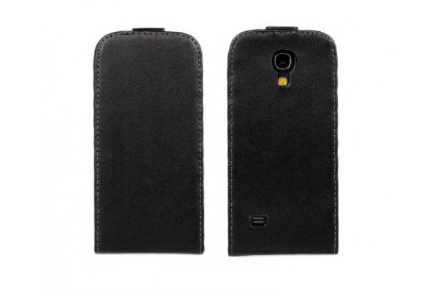 Чехол-флип для Samsung Galaxy S4 Mini GT-i9190/i9192/i9195 черный кожаный