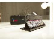 Лаковая блестящая кожа под крокодила чехол-книжка для Samsung Galaxy S4 Mini i9190/i9192/i9195 черный..
