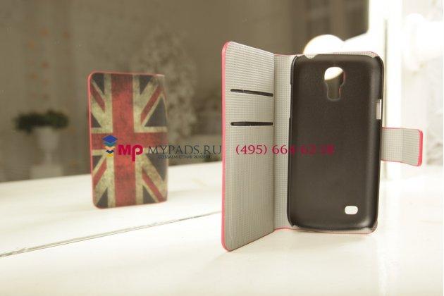 "Чехол-книжка для Samsung Galaxy S4 Mini i9190/i9192/i9195 ""тематика Британский флаг"""