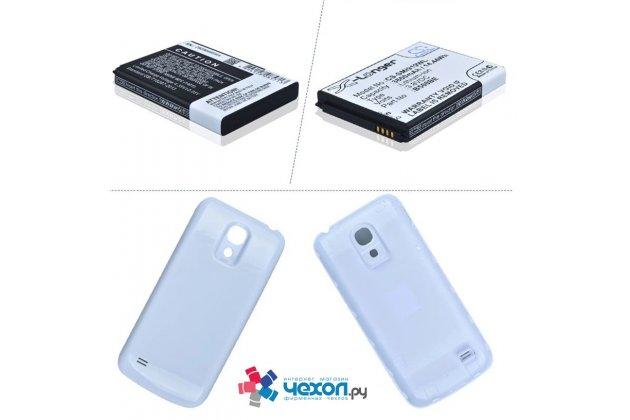Усиленная батарея-аккумулятор большой повышенной ёмкости 3800mAh для телефона Samsung Galaxy S4 Mini / S4 Mini Duos GT-i9190/i9192/i9195 + задняя крышка в комплекте белая + гарантия